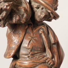 French Terracotta Grape Picker Figures