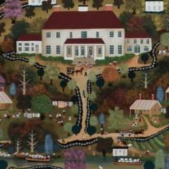 "Jan Munro Oil on Board ""Southern Plantation Scene"""