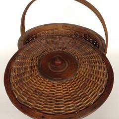 Rare 19th C. Covered Nantucket Basket