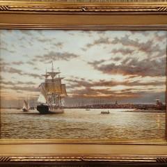 "Rodney Charman Oil on Canvas ""Three Brothers"""