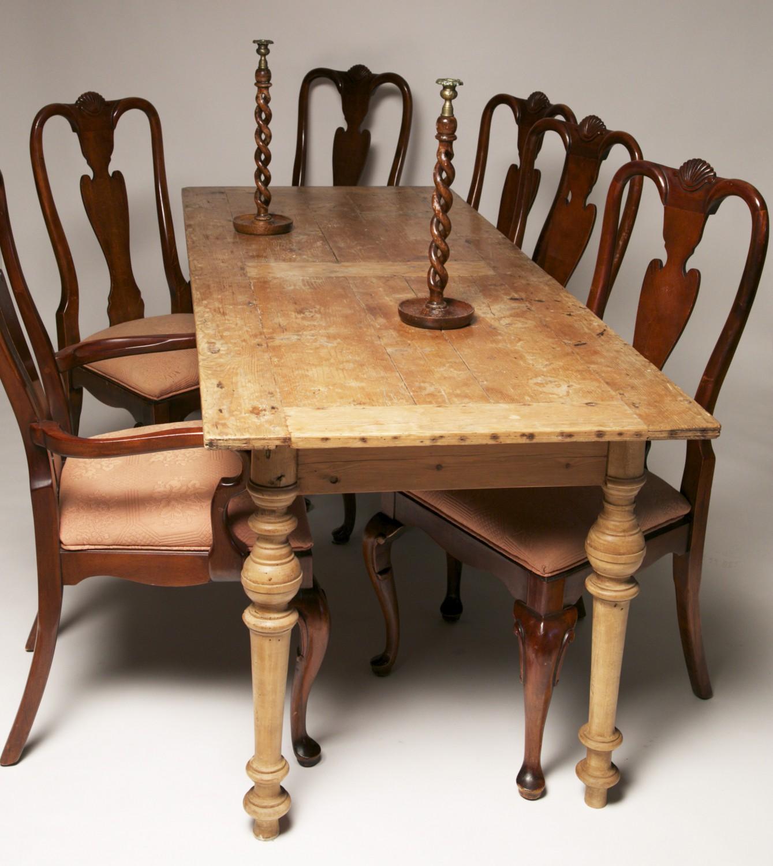 Antique Furniture Narrow Pine Dining Table Rafael Osona Auctions Nantucket Ma