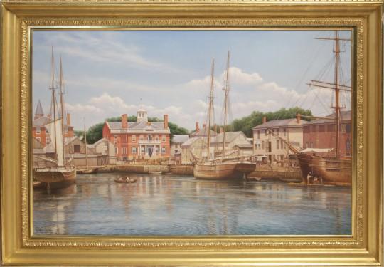 "Rodney Charman Fine Art Oil on Canvas ""Derby Wharf, Salem 1880"""