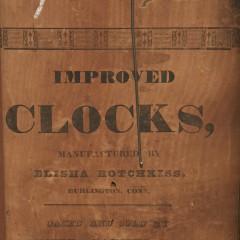 Elisha Hotchkiss 8-Day Mantle Clock, Burlington Connecticut