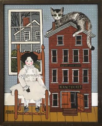 "Maggie Meredith ""Love, Love, Love Nantucket"" Oil on Canvas"