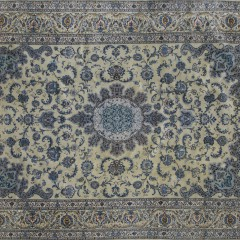 Vintage Hand Woven Tabriz Carpet