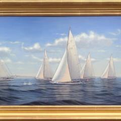 "Alan J. Eddy ""Rounding Brant Point"" Oil on Board"