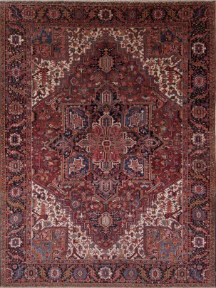 Semi-Antique Hand Woven Heriz Carpet