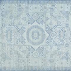 Hand Woven Ivory Wool Mamluk Carpet