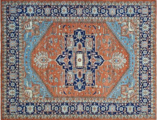 Hand Woven Wool Heriz Design Carpet