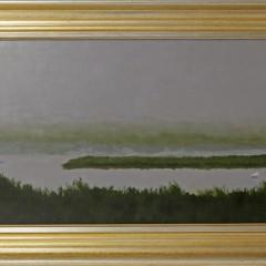 "Robert Stark Jr. ""Polpis Swans"" Oil on Canvas Board"