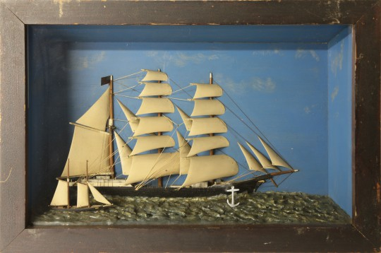 """Antique Shadow Box of the Vessel """"Swansea"""""""