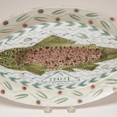 "Mara SuperiorMara Superior Porcelain Oval Fish Platter ""A Trout"" Porcelain Oval Fish Platter ""A Trout"""
