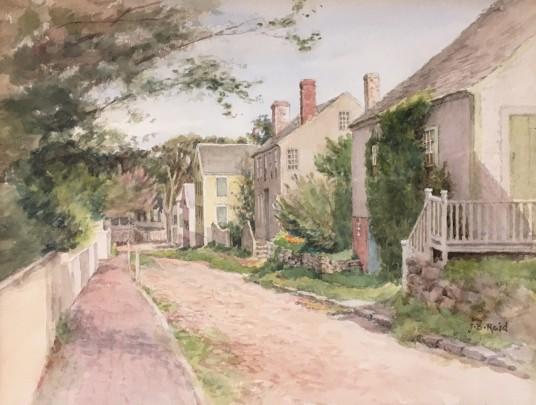"Jane Brewster Reid ""Ash Lane"" Watercolor on paper"