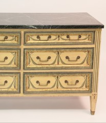 Louis XVI Style Six Drawer Hand Painted Chest