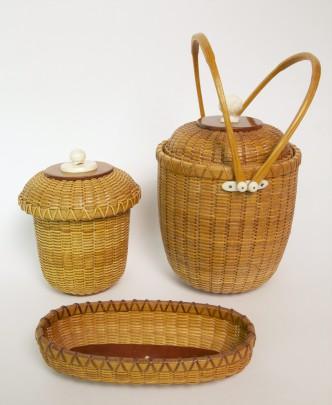 Three Paul Willer Nantucket Baskets