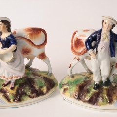 Pair of 19th Century Staffordshire Figural Groups
