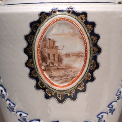 Pair of 18th Century Chinese Export Porcelain Covered Urns