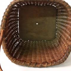 19th Century Square Swing Handle Nantucket Berry Basket