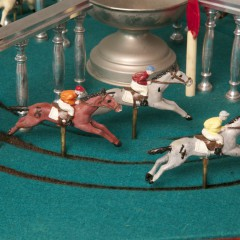 """Mechanical """"Petits Chevaux"""" Horse Race Game"""