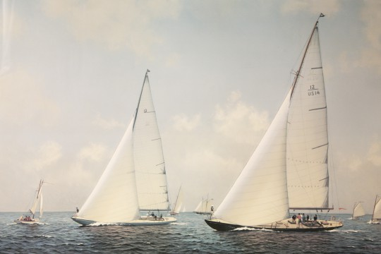 """Michael Keane Limited Edition Lithograph """"Reaching for Nantucket - The Opera House Cup"""""""