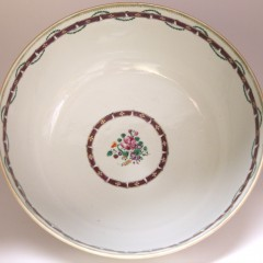18th Century Chinese Export Famille Rose Punch Bowl