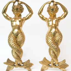 30-4185 Mermaid Andirons