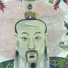 19th Century Hand Painted Chinese Scroll
