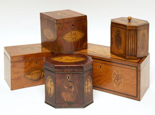 19th Century English Inlaid Tea Caddies