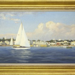 "David Bareford Oil on Canvas ""Concordia Leaving Stonington Harbor"""