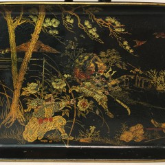 19th Century Miniature Lacquer Tray on Stand