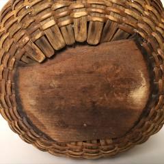 19th Centuary Rattan Woven Round Swing Handle Open Nantucket Basket