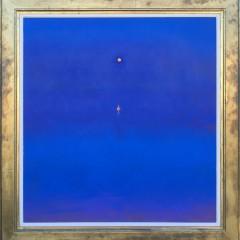 "Tom Rickman Acrylic on Canvas ""Moonfloat 02"""