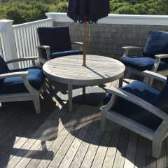 Set of Four Gloster Ventura Teak Chairs and Table