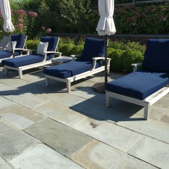 Set of Four Gloster Ventura Chaise Lounge Chairs