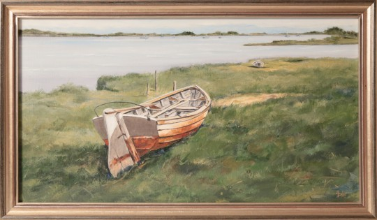 "Roy Bailey Oil on Canvas ""Low Tide, Nantucket,"""