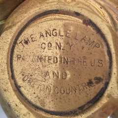 19th Century Brass Angle Lamp