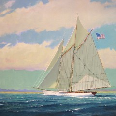 81-3520 Schooner Arriving Home – Nantucket lg size image