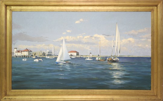 """David Bradford Oil on Canvas """"View of Brant Point"""""""