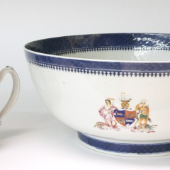 18th Century Chinese Export Porcelain Tankard and Punch Bowl