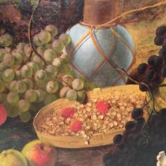 "19th Century Oil on Canvas ""Bountiful Harvest"""