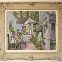 """Ivan N. Kamalic Oil on Linen """"Boarding House Shop, Nantucket 1993"""""""