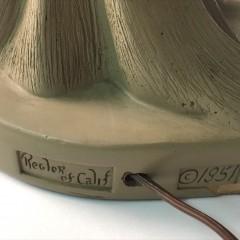 1951 Reglor of California Roman Titan Lamp