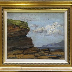 """Impressionist Oil on Artist Board """"Nahant Head Portsmouth, New Hampshire"""""""