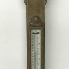 19th Century English Oak Stick Barometer
