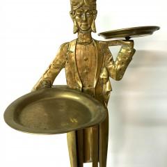 Art Deco Brass Butler Card Tray