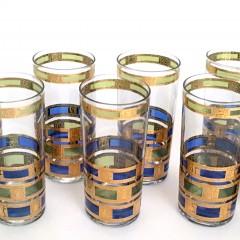 "Set of 10 Vintage Rare Culver ""Empress"" Highball Glasses"