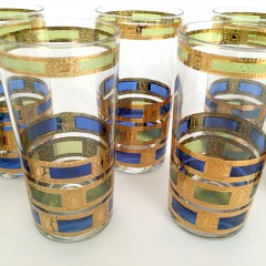 "Set of Ten 1960s  Culver ""Empress"" Highball Glasses"
