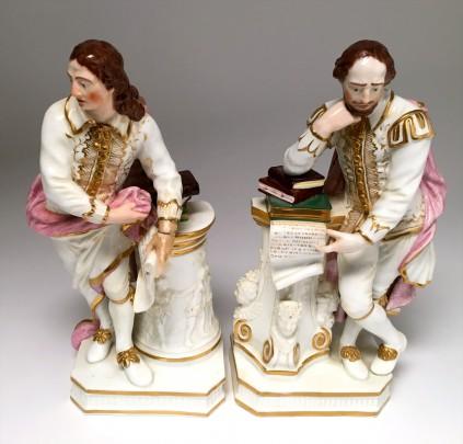 Pair of Crown Derby Shakespearean Porcelain Figures