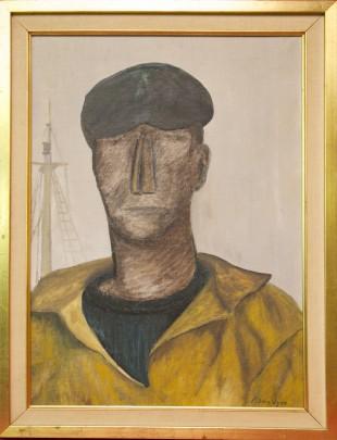 "Lucien Van Vyve Oil on Canvas ""Le Mariner"""