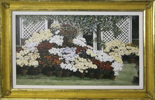 """Roy Bailey Oil on Canvas """"Flowers"""""""